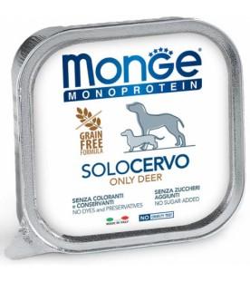 monge-conserva-monoproteica-pentru-caini-100%-carne-cervo-cerb-150g